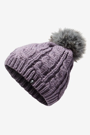 The North Face Youth Oh Mega Pom Beanie - Purple Sage