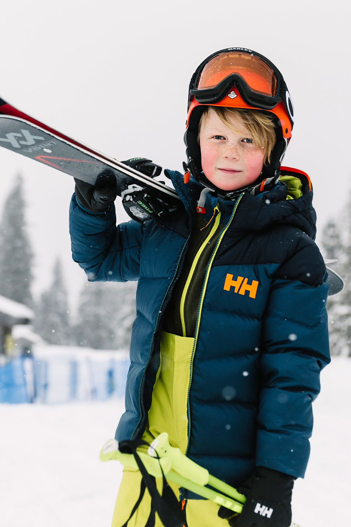 authorized site hot new products big clearance sale Helly Hansen Jr No Limits Kids Snowpants - Sweet Lime
