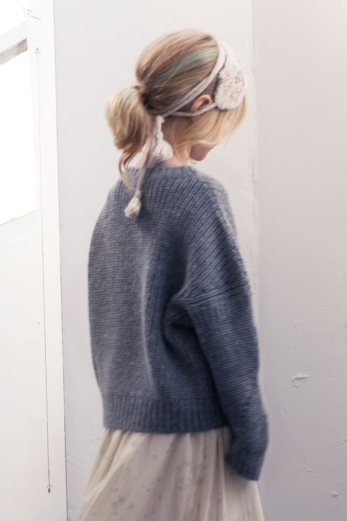 Tocoto Vintage Knit Oversized Girls Sweater