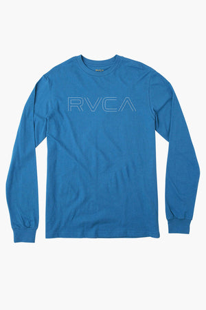 RVCA Pinner Long Sleeve - Bright Blue