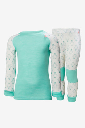 Helly Hansen Lifa Merino Set - Pool Blue