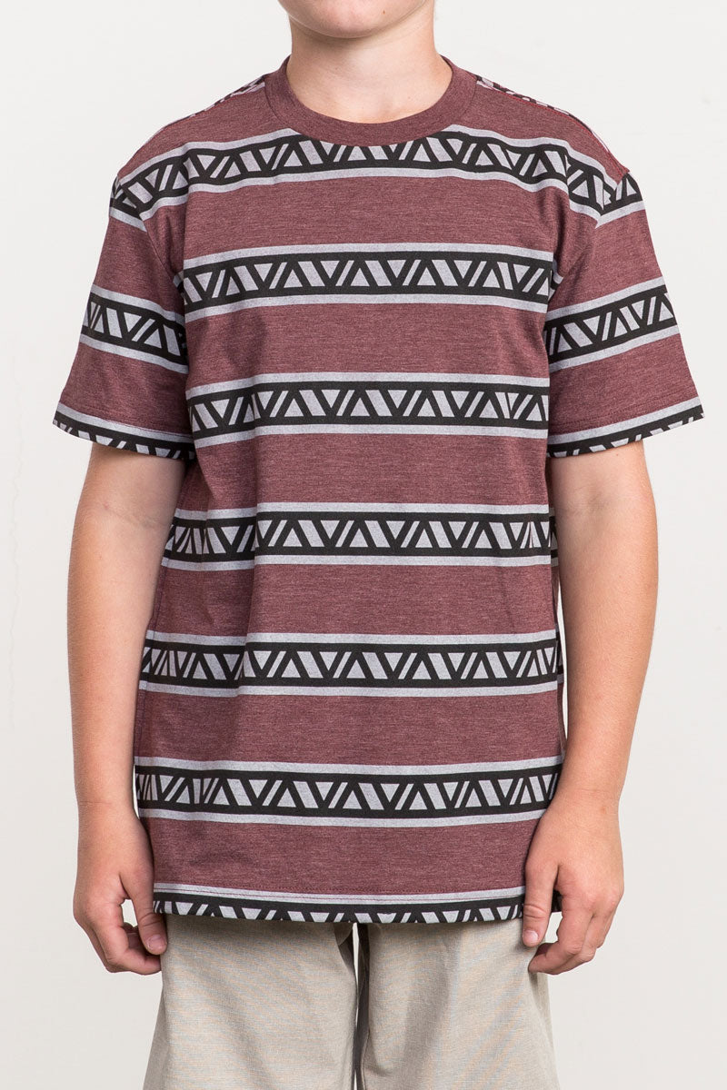 RVCA VA Repeater Short Sleeve Tee - Bordeaux