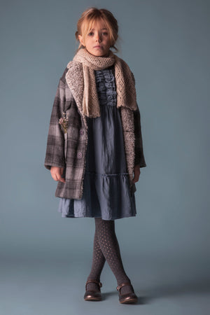 Tocoto Vintage Checkered Kids Coat
