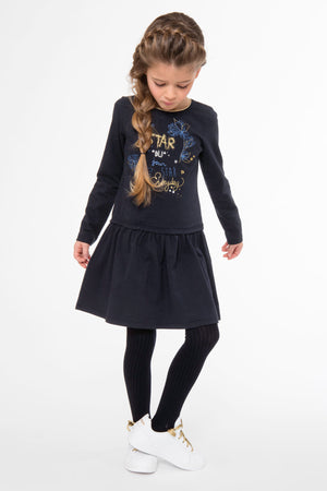 3pommes Navy Star Dress