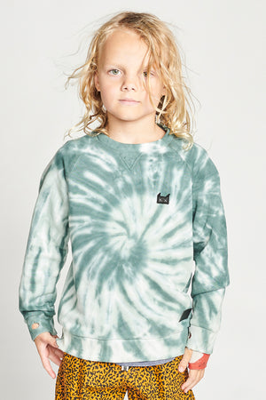 Munster Kids Ado Boys Sweatshirt - Green Dye