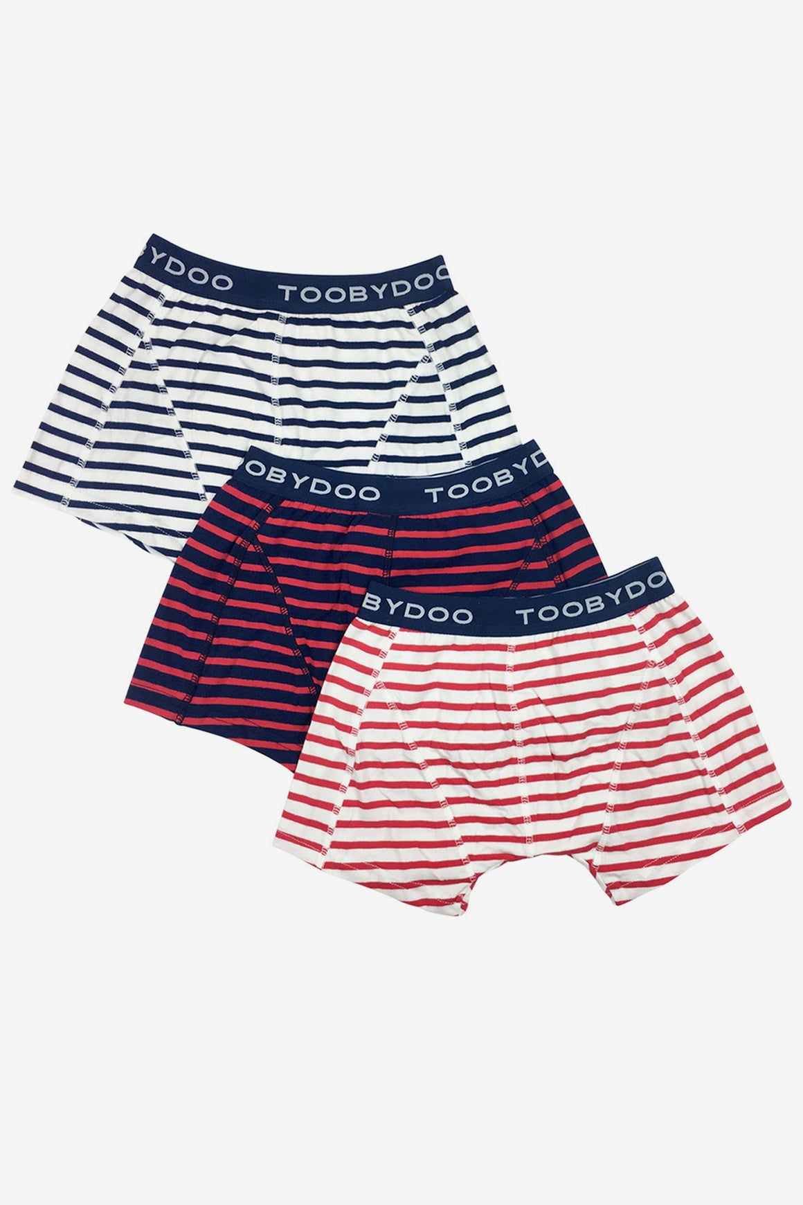 Toobydoo Boys Underwear 3-Pack - Red