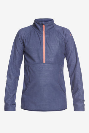 Roxy Cascade Technical Half-Zip Fleece - Crown Blue Indie Stripes