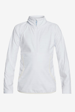 Roxy Cascade Technical Half-Zip Fleece - Bright White Indie Stripes
