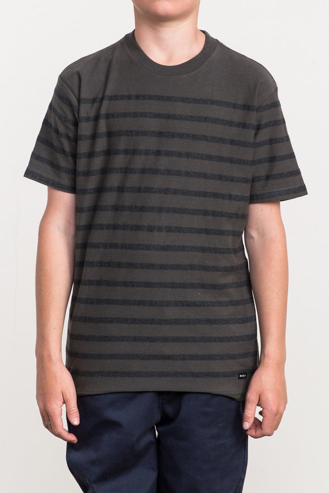 RVCA Dean Stripe Tee - Pirate Black
