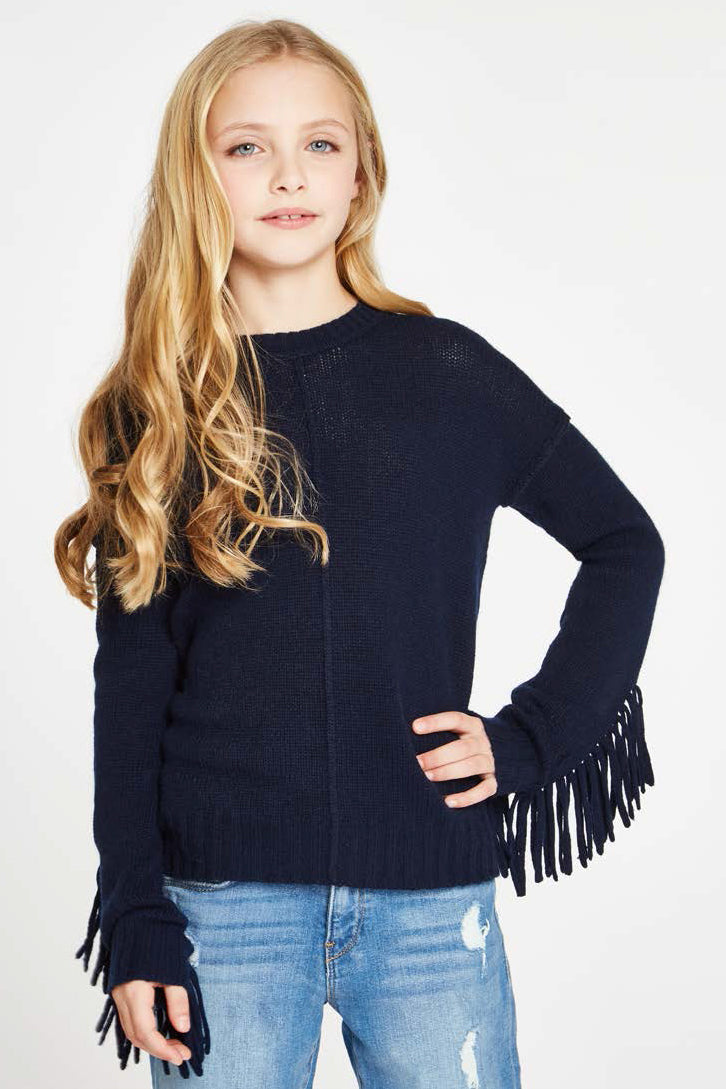 Autumn Cashmere Fringe Sweater