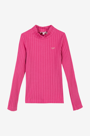 Lili Gaufrette Turtleneck - Fuschia