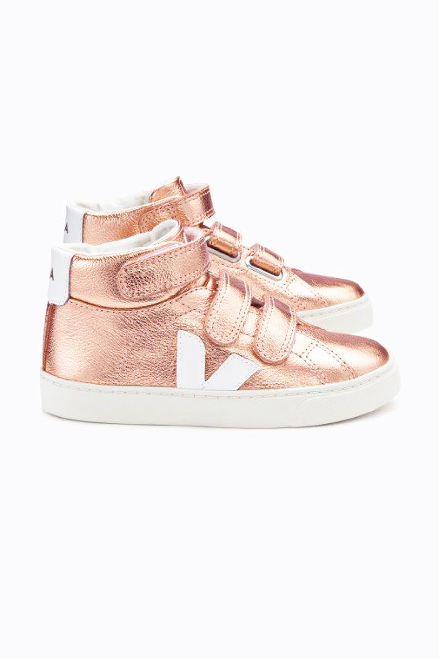 Veja Esplar High Top Kids Shoes- Nacre Pierre