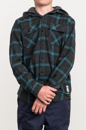 RVCA Good Hombre Flannel Shirt - Charcoal Heather