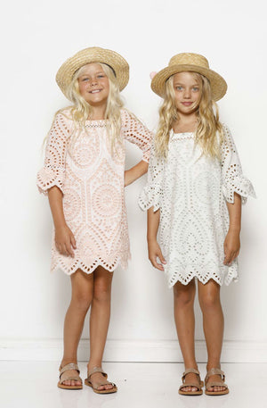 Marlo Hunter Girls Dress - Blush