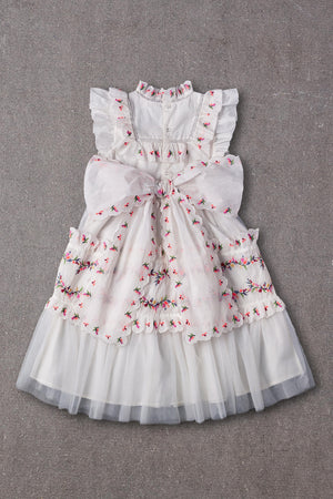 Nellystella Julianna Girls Dress - Bright White