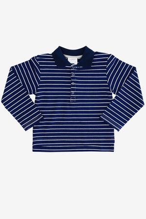 Toobydoo Long Sleeve Polo Shirt - Dark Blue