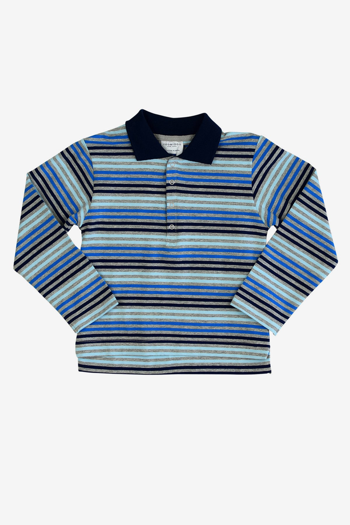 Toobydoo Long Sleeve Polo Shirt - Light Blue
