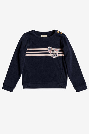 Roxy My Days Tell Me A Story Sweatshirt - Dress Blues