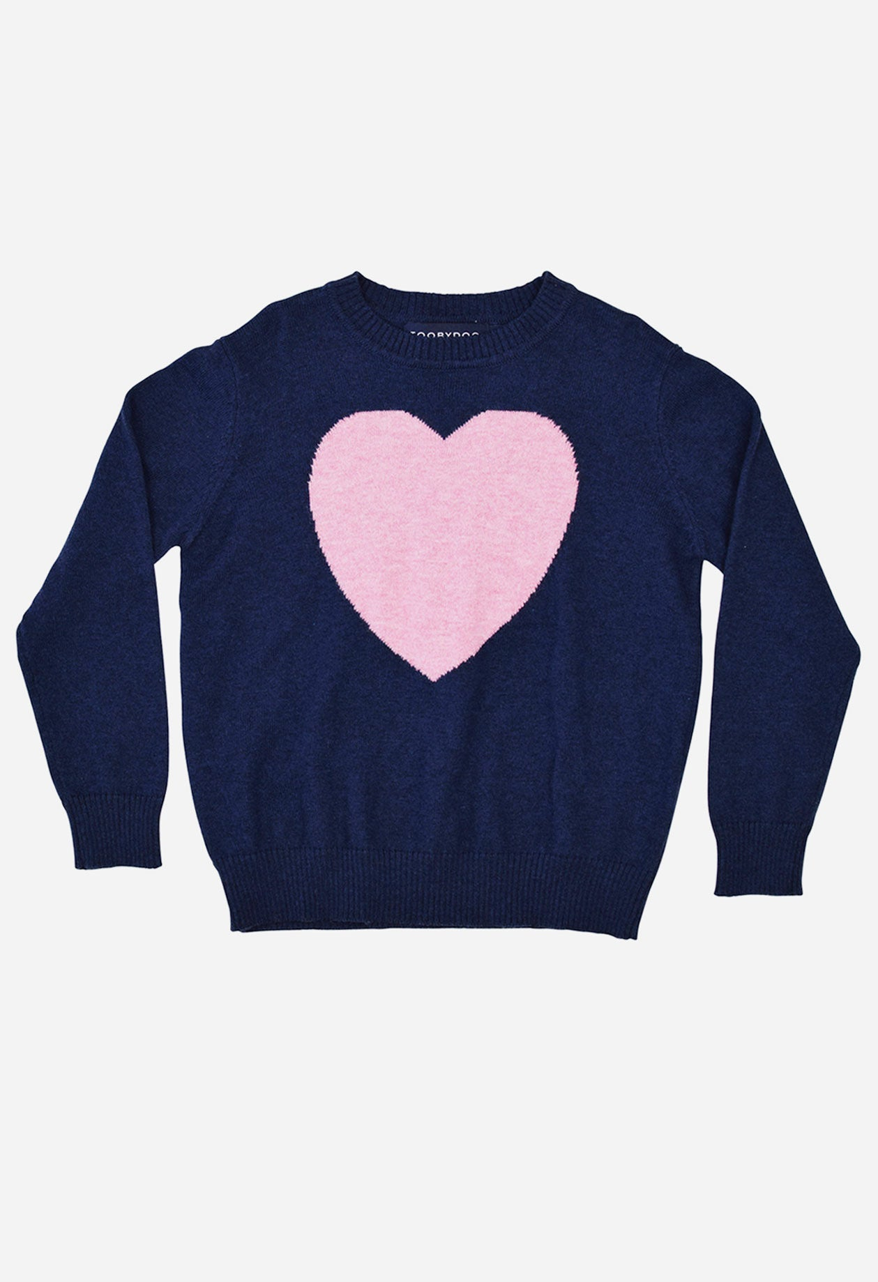 Toobydoo Pink Heart Sweater