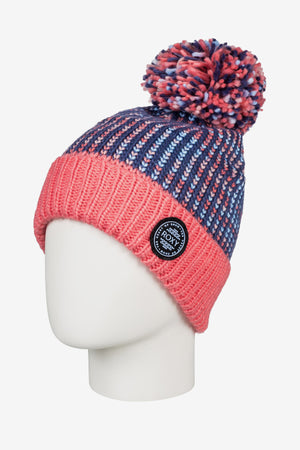 Roxy Snowflurry Pom-Pom Beanie - Crown Blue