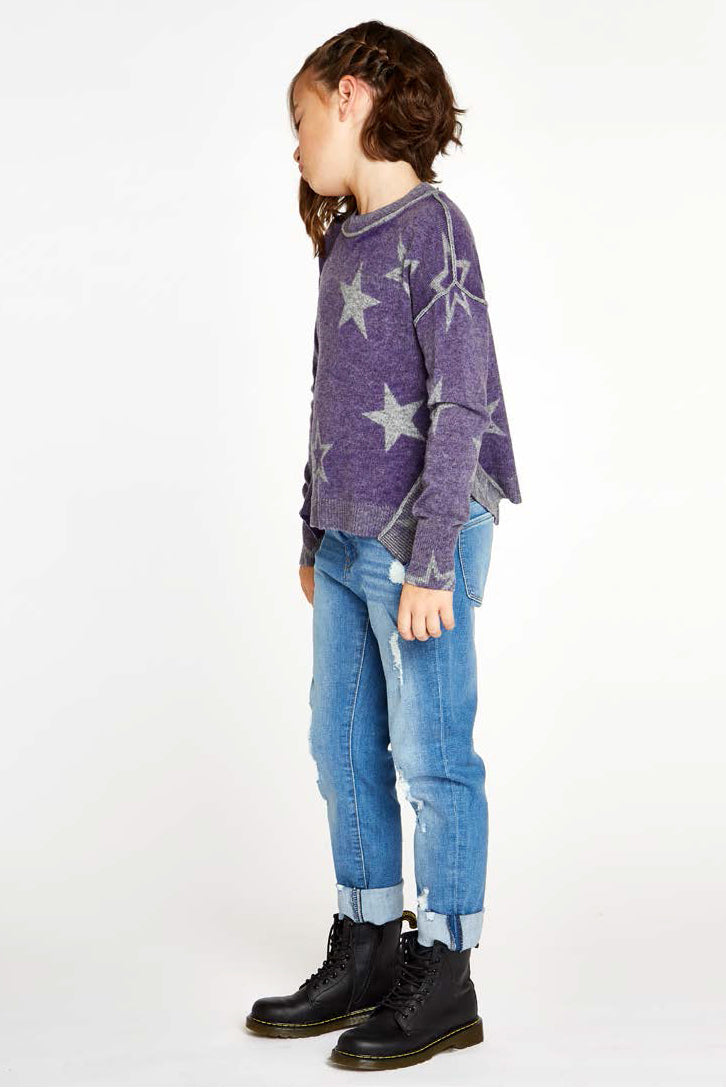 Autumn Cashmere Purple Star Sweater