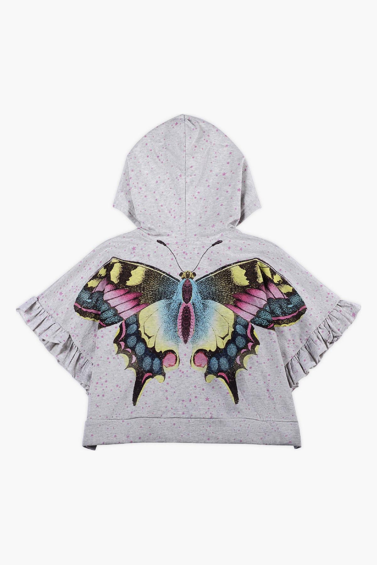 Paper Wings Star Butterfly Girls Hoodie