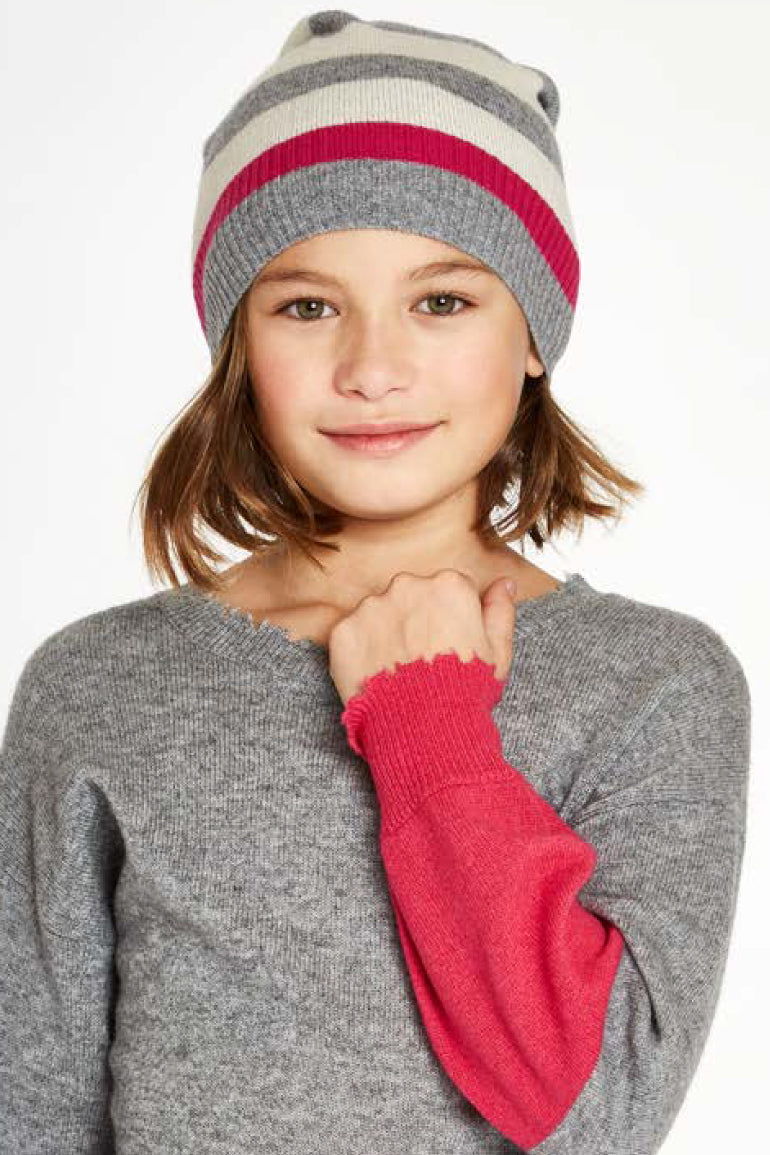 Autumn Cashmere Stripe Hat
