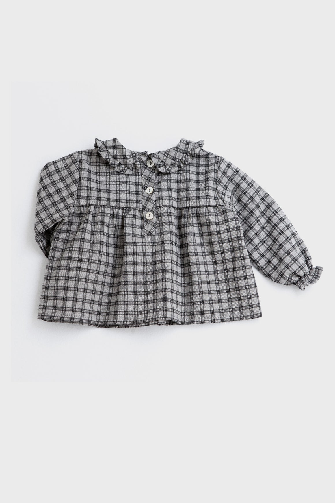 Tocoto Vintage Baby Girls Checkered Shirt
