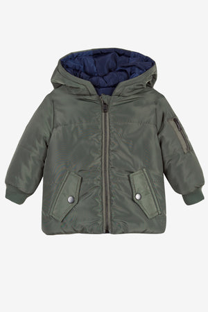 3pommes Boys Green Reversible Coat