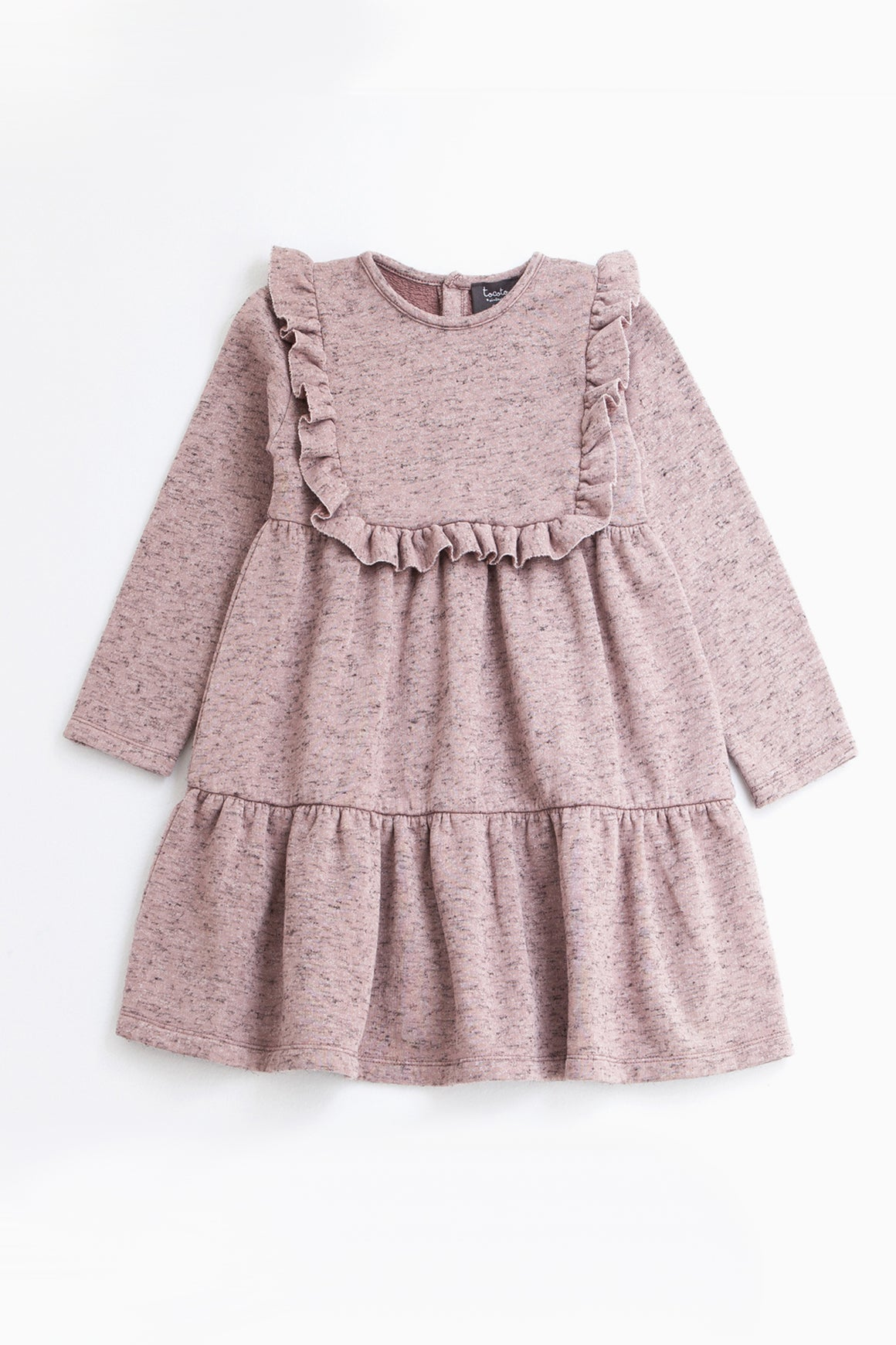 Tocoto Vintage Ruffle Plush Dress - Pink