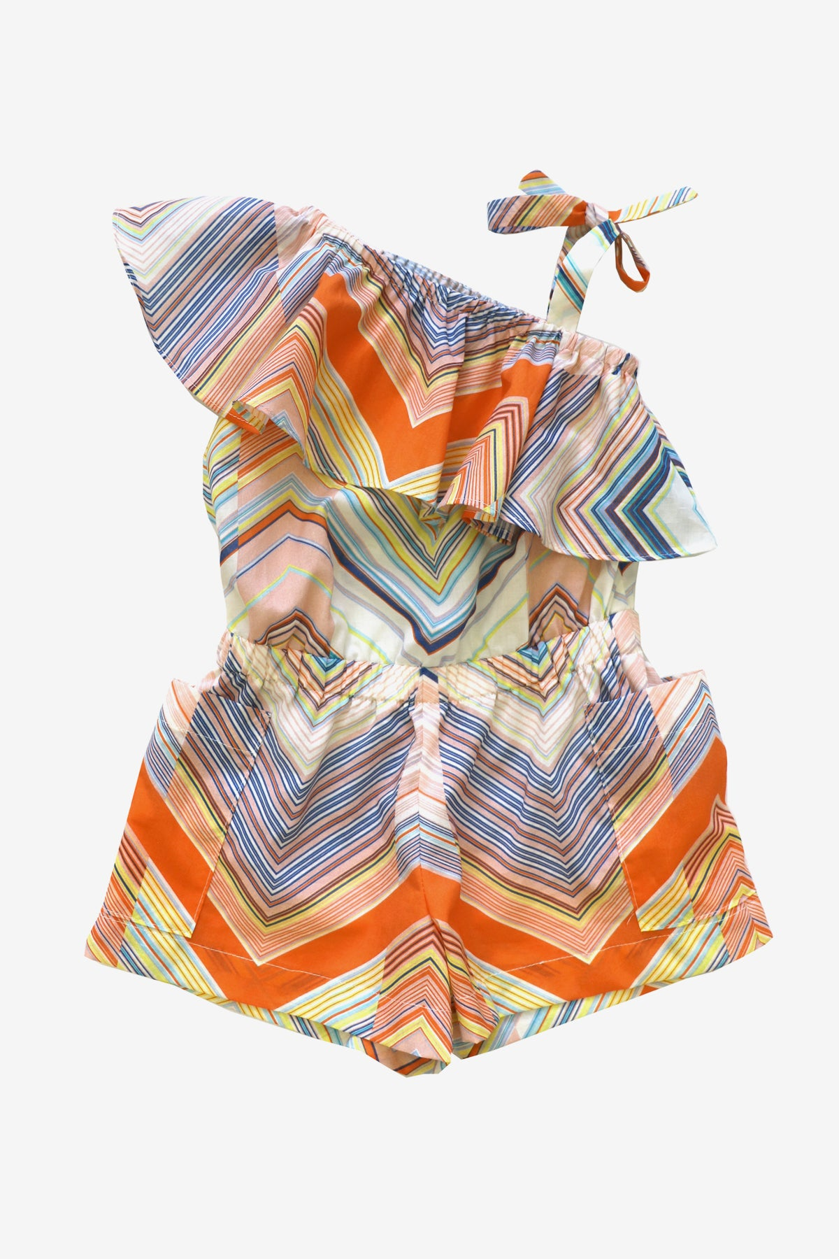 Anthem of the Ants Asymmetric Kaleidoscope Girls Romper (Size 4 left)