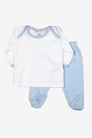Blue Footed Pants Set