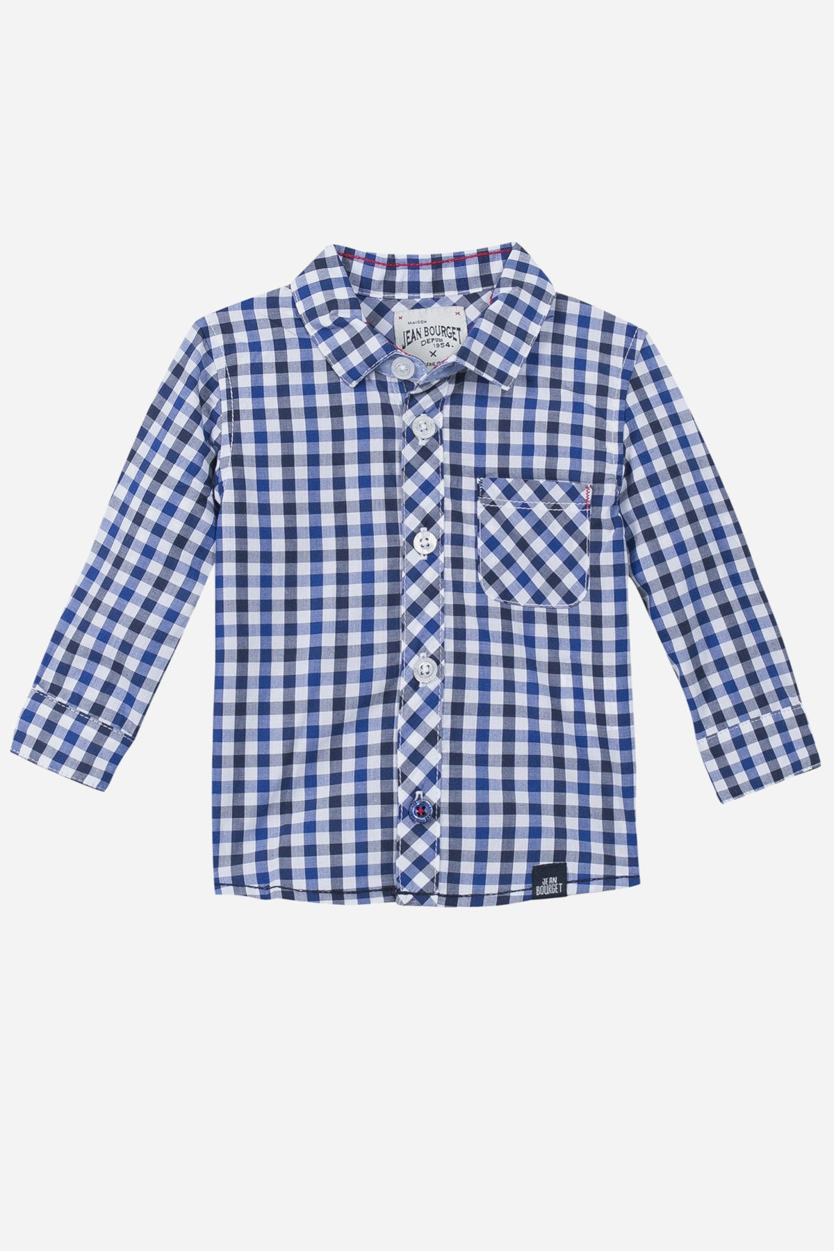 Jean Bourget Baby Checkered Shirt