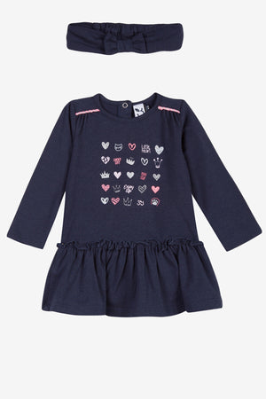3pommes Baby Girl Heart Dress with Headband
