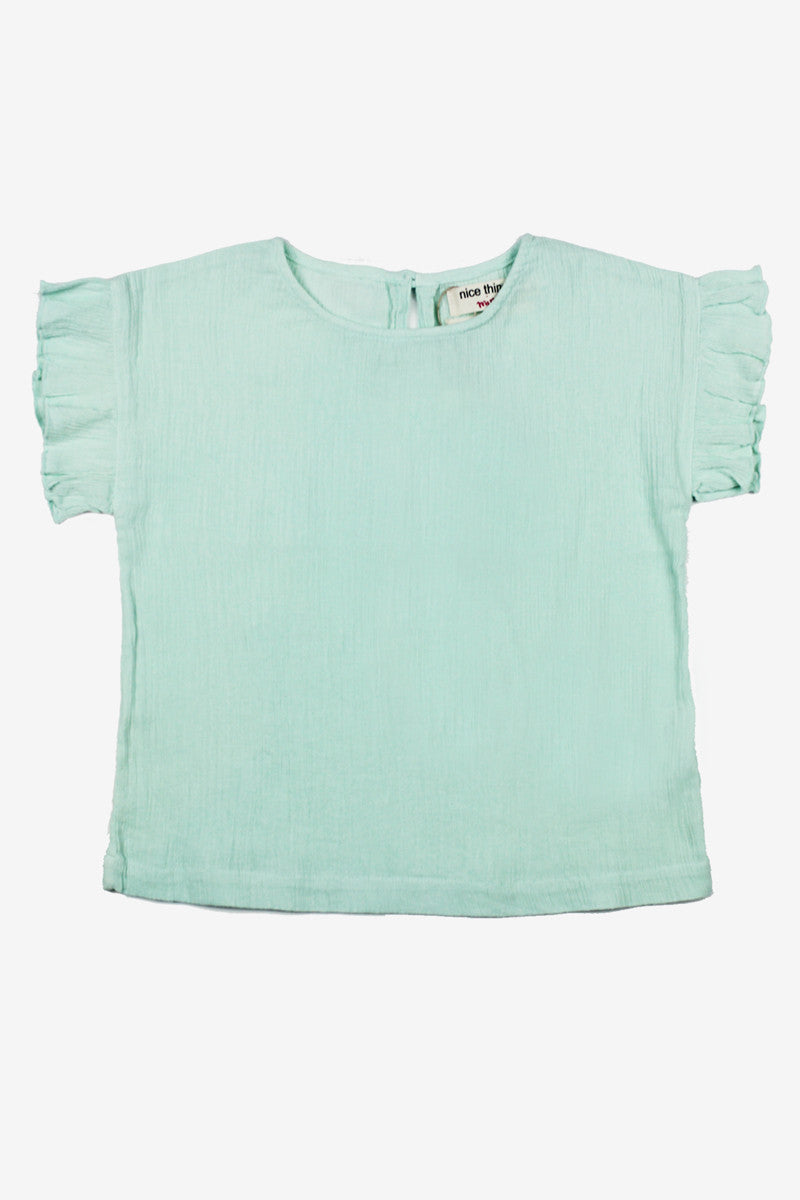 Nice Things Mini Sweet Bambula Top - Mint Green