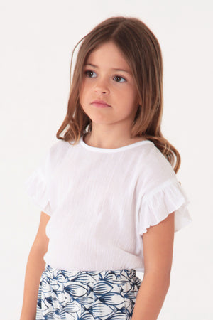 Nice Things Mini Sweet Bambula Top - White