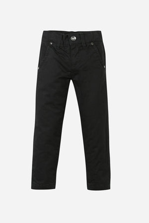 3pommes Black Boys Chino Pants