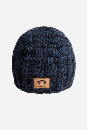Blue Melange Winter Hat