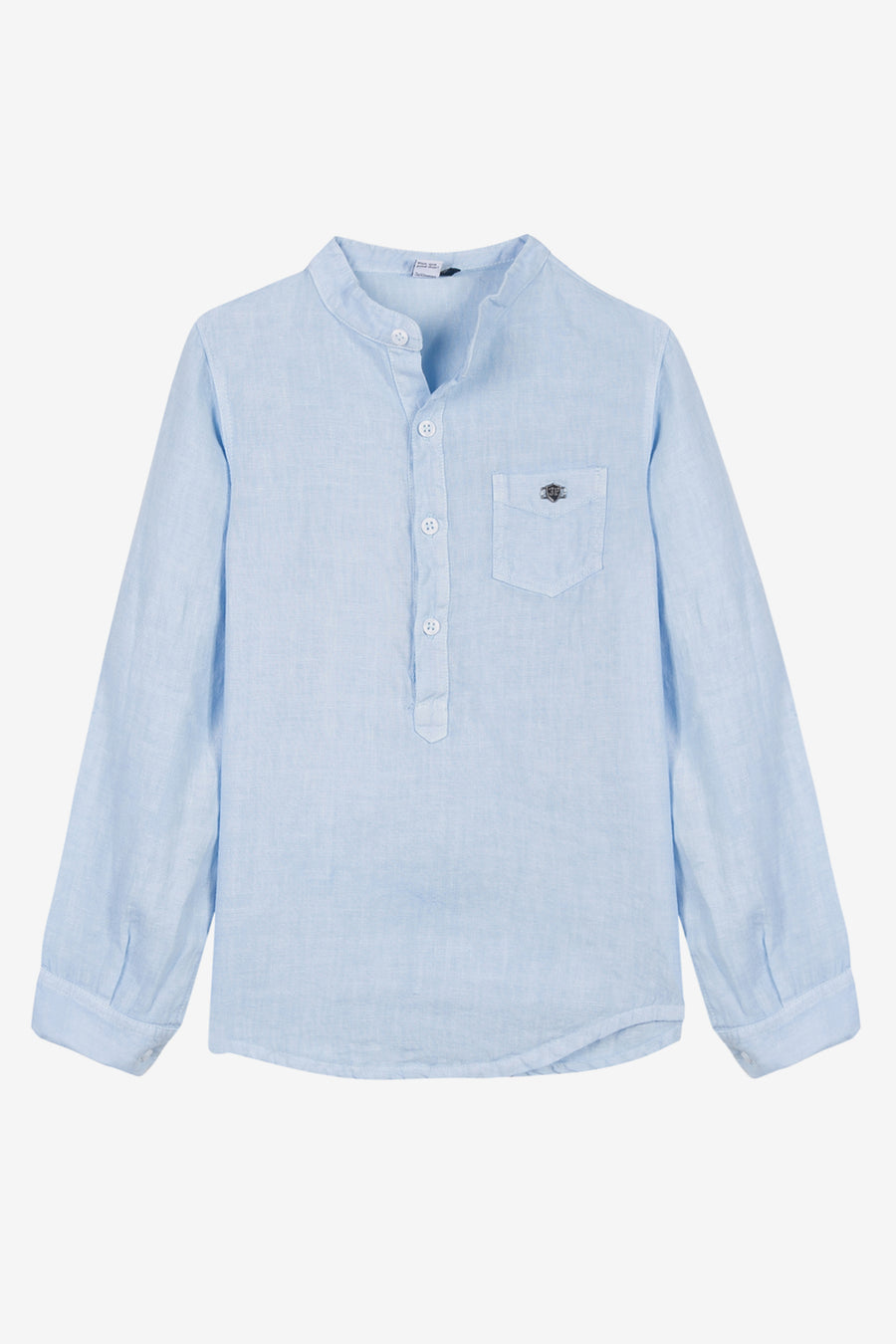 3pommes Light Blue Linen Shirt