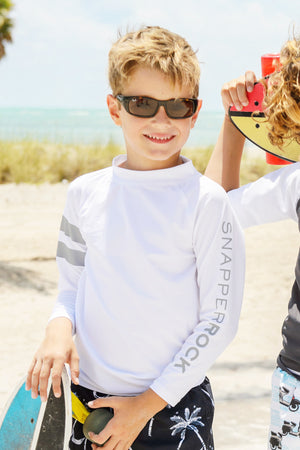 White Long-Sleeve Rash Guard
