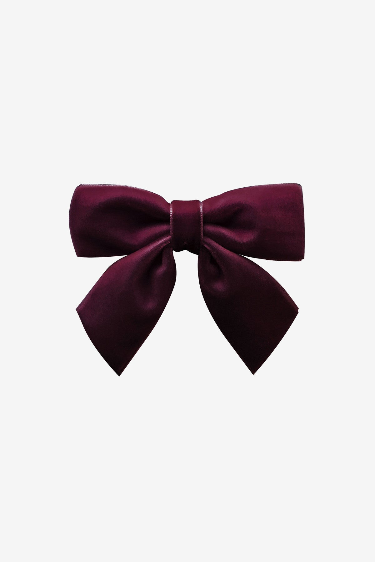 Burgundy Velvet Bow Hair Clip