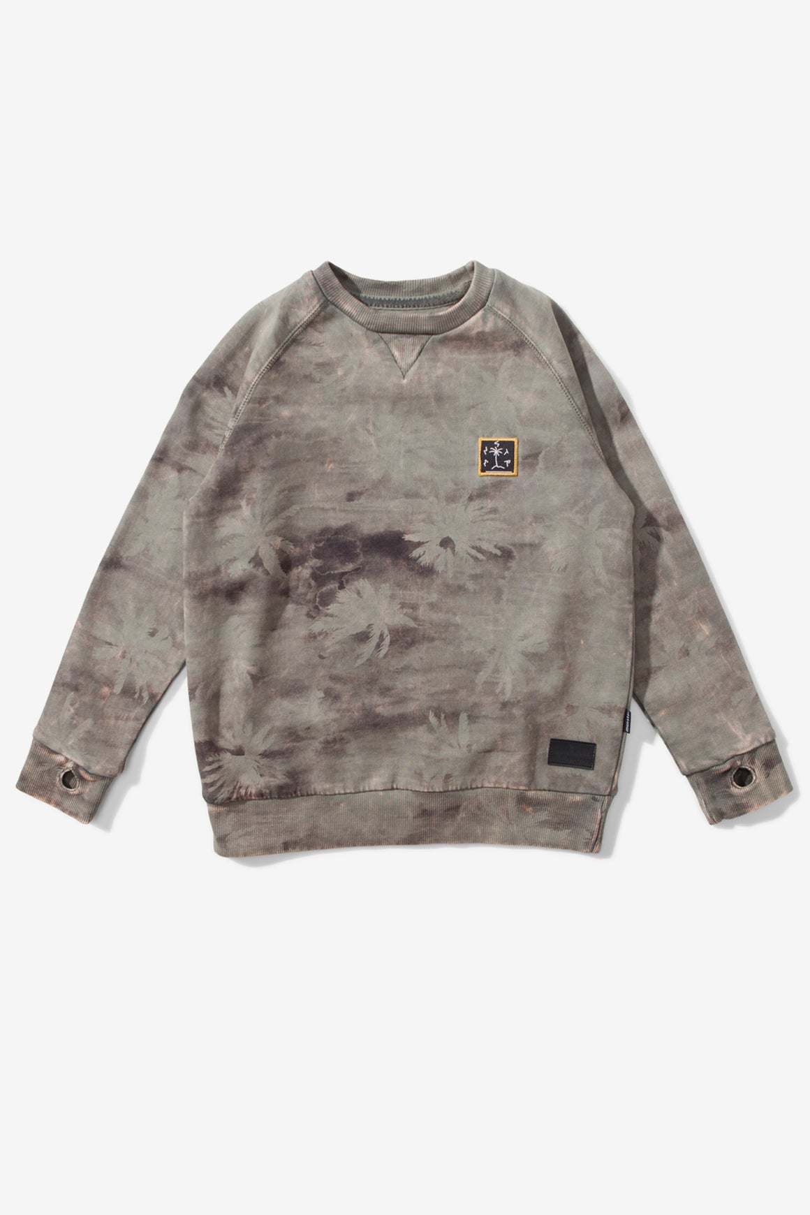 Munster Kids Camo Palm Sweatshirt - Olive