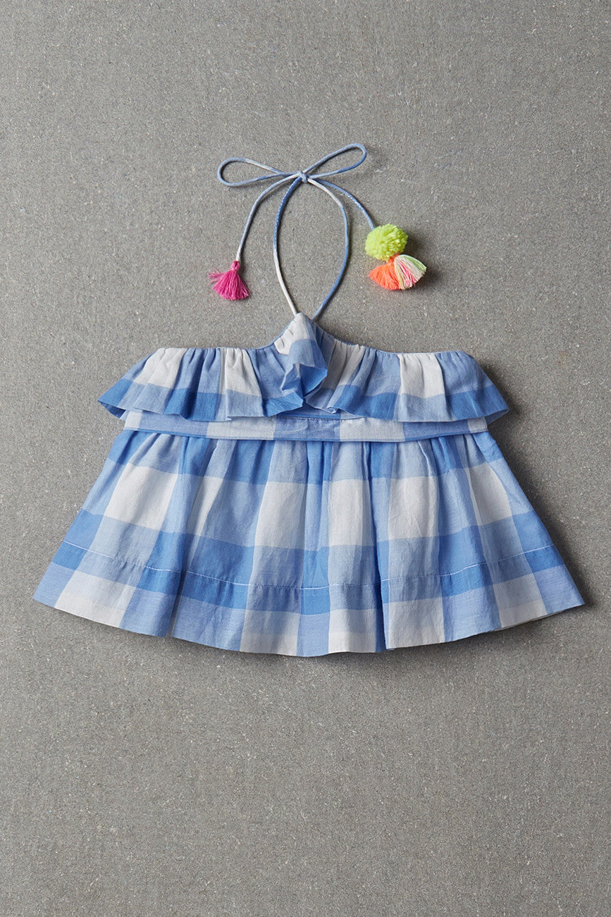Nellystella Candy Blouse - Blue Plaid
