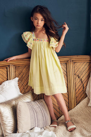 Nellystella Chloe Dress - Lemon Sour