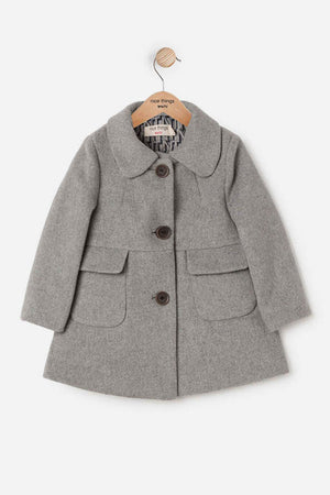Nice Things Mini Girls Wool Overcoat (Size 2 left)