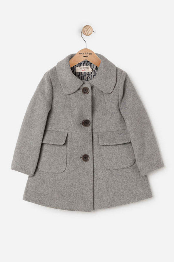 Nice Things Mini Girls Wool Coat