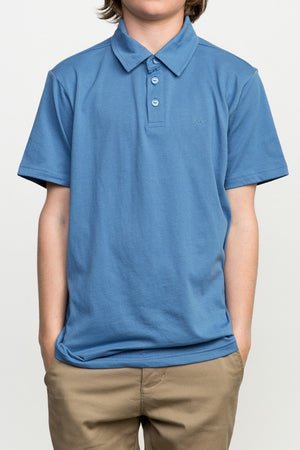 RVCA Sure Thing Polo- Cobalt
