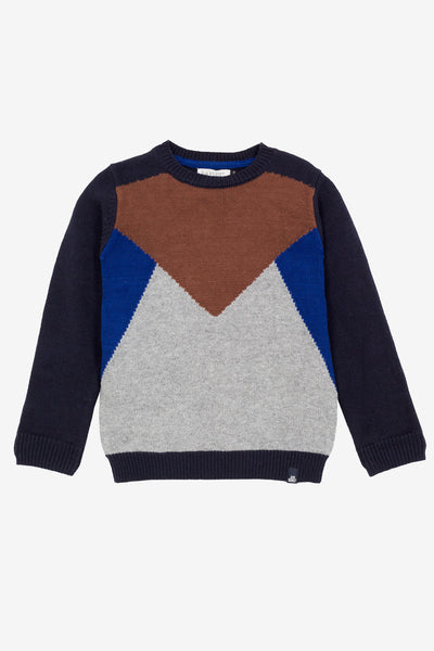 Jean Bourget Boys Colorblock Sweater