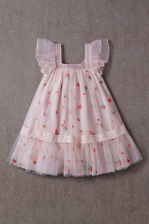 Nellystella Fiona Girls Dress - Spring Floral Tulle
