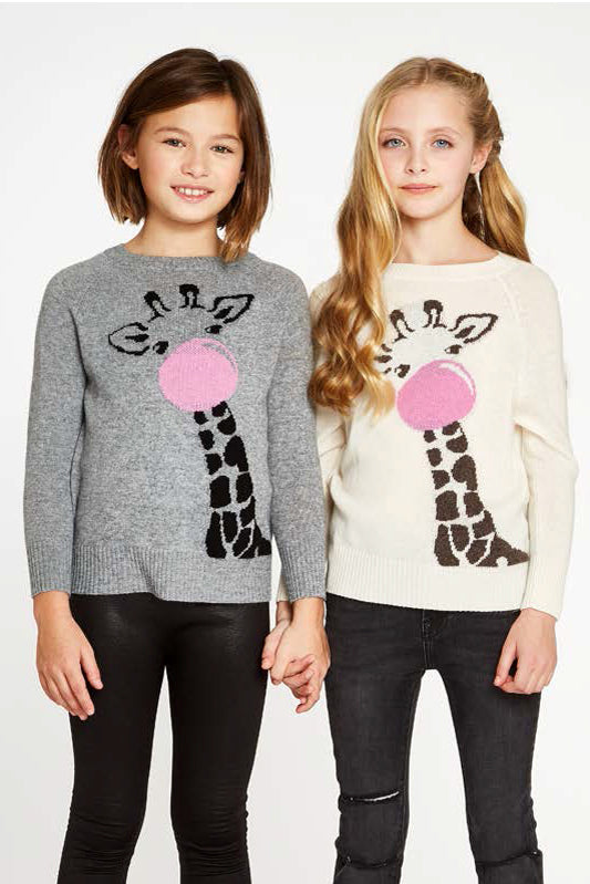 Autumn Cashmere Giraffe Sweater - Cream